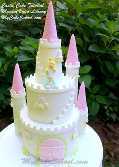 Castle Cake from our Member Video Tutorial Library!~ MyCakeSchool.com