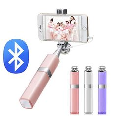 Fashion Lipstick Nude Design Bluetooth Wireless Selfie Stick for iPhone 7/7 plus iPhone 6 6s iOS for Samsung Android Smartphone