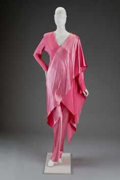 Ensemble in two parts (tunic, pants) | Designed by Roy Halston Frowick, known as Halston | United States, 1980's