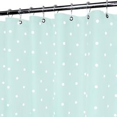 Classic Seaglass And White Polka Dot Shower Curtain