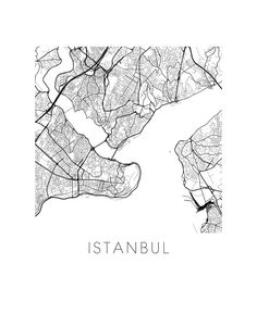 Istanbul Map Print - Check out the other city pas in this Etsy shop!