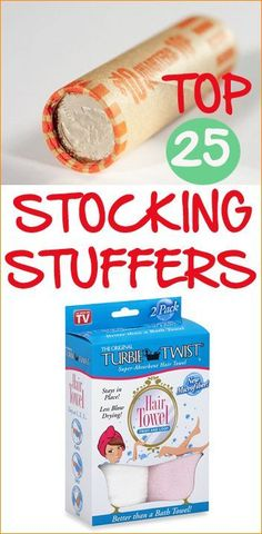 Top 25 Stocking Stuffers.  Fill the stockings with useful items, not just candy.  These ideas will keep them grinning Christmas morning.
