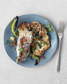 Broiled Striped Bass with Cauliflower and Capers Recipe