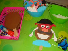 make mr potato head craft station -- THIS is what he wants for his party.