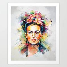 Frida Kahlo Art Print by Tracie Andrews - $16.00