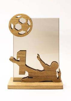 Set of 3 Football Trophies to place. All items are made from oak and glass. Glass engraving included, add your text, simple symbols or logos - if you have any questions about engraving please ask. Glass dimensions: Prize cm Prize cm Prize cm If you Kiosk Design, Display Design, Temple Drawing, Acrylic Trophy, Glass Awards, Plaque Design, Custom Trophies, Football Trophies, Wood Business Cards
