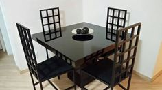 Mesa Modelo Verona Preta 1.00 X 1.00 Pronta Entrega - R$ 1.600,00 no MercadoLivre