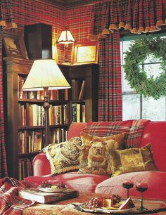A profusion of Red Tartan for Christmas