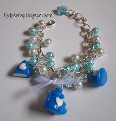 FedeScrap: bijoux Braccialetti bon-bon azzurri