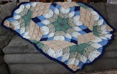 Prarie Star Afghan. Available in different hues, made to order.