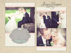 Unique photo wedding thank you card designed by Jeneze Designs at www.jeneze.com.