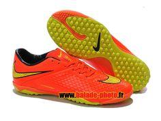 Nike Hypervenom Phelon TF Chaussures de football Orange Jaune Noir 4466