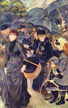 Pierre Auguste Renoir    Şemsiyeler / The Umbrellas    1881-1885. Tuval üzerine yağlıboya. 180.3 x 114.9 cm. National Gallery, Londra.