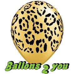 Leopard Tierdruck Luftballons - 30cm