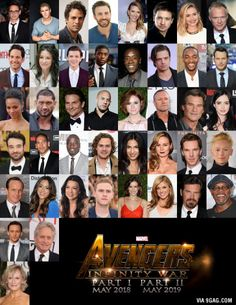 JESUS CHRIST! This is the cast of Avengers Infinity War
