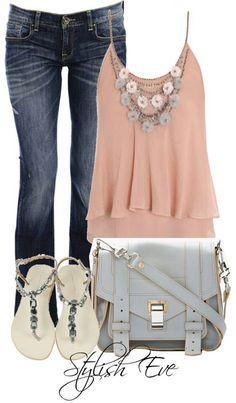 Jean+color+sandals=♥