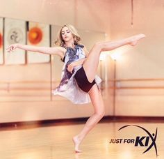 Chloe's official Just For Kix photoshops