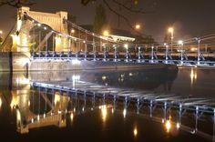 Grunwaldzki Bridge over the Odra river - view from Wybrzeże Wyspiańskiego street : http://www.carrentalwroclawairport.com