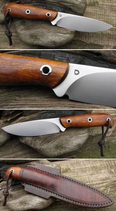 NováStránka BushCraft Knife and Leather Sheath Cool Knives, Knives And Swords, Kydex, Survival Knife, Survival Gear, Messer Diy, Rifles, Beil, Forged Knife