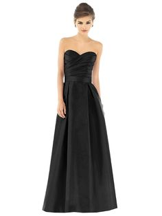 black long dress for bridesmaids. Love the style. Don't know about black though
