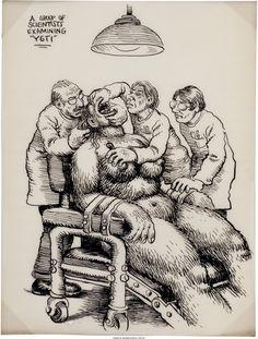 Robert Crumb Unpublished Whiteman Meets Bigfoot Illustration Original Art Here's another never-before - Available at 2010 May Signature Comics &. Robert Crumb, Fritz The Cat, Alternative Comics, Jean Giraud, Frank Frazetta, Bigfoot, Alex Ross, Comic Art, Comic Book