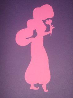 Disney Princess Jasmine Silhouettes for framing, birthday parties, invitations, banners, scrapbooking. $5.00, via Etsy.