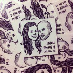 Custom Portrait Tattoo @lilimandrill www.lilimandrill.fr #etsy #EtsyGifts #bachelorette #etsywedding #wedding #bride #couple #giftforcouple #DifferenceMakesUs #tattoo #temporarytattoo #favor #weddingfavors #party #personalizedgift #uniquegift