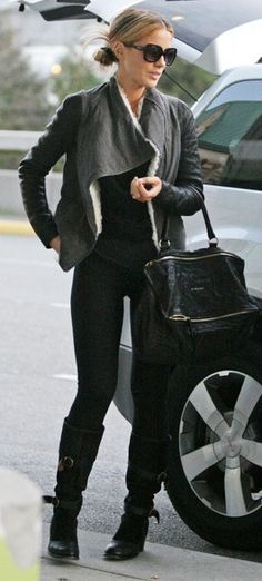 Kate Beckinsale - helmut Lang jacket, F boots