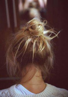 Messt bun #hairbun #idgf