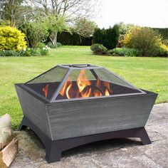 Shop Jeco 26-in W Black/Silver Steel Wood-Burning Fire Pit at Lowes.com