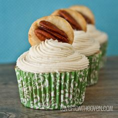 Pecan Pie Cupcakes by Love From The Oven