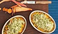 Vegetarische Rezeptidee Süßkartoffel-Auflauf