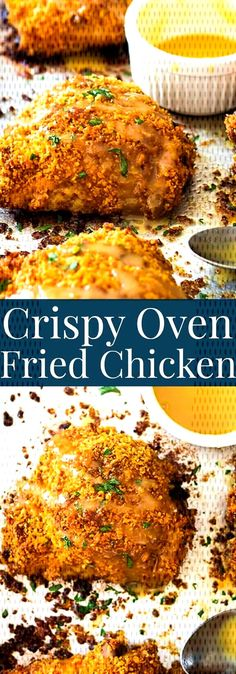 #chicken #recipes #crispy #thighs #fried #oven #try #to Crispy Oven Fried Chicken Thighs  - Recipes to try -You can find Chicken thigh recipes oven and more on our website.Crispy Oven Fried Chicken Thighs  - Recipes to try - Oven Baked Breaded Chicken, Fried Chicken Thigh Recipes, Healthy Fried Chicken, Chicken Thights Recipes, Oven Chicken Recipes, Oven Recipes, Chicken Meals, Oven Fried Chicken Thighs, Chicken Breasts