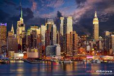 Фотография Midtown Manhattan skyline автор Alex Dibrova на 500px