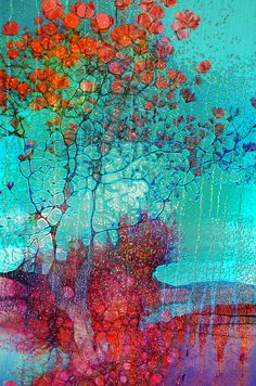 The Tree of Yesteryear by Tara Turner Abstract Digital Art, Abstract Art, Abstract Paintings, Silk Painting, Painting & Drawing, Mixed Media Canvas, Art Pages, Tree Art, Canvas Art