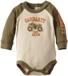 Carhartt Baby-boys Infant Raglan Bodyshirt $13.90 thestylecure.com
