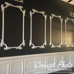 Chair Rail Molding, Panel Moulding, Wall Molding, Moldings And Trim, Wainscoting Wall, Bedroom Decor, Wall Decor, Wall Trim, Decorative Mouldings