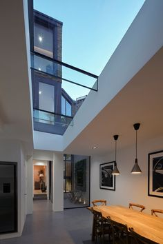 Wimbledon Park Road | Giles Pike Architects #ceiling #glass #skylight