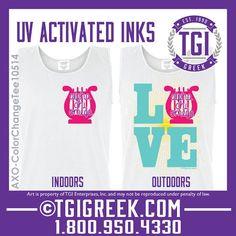 TGI Greek - Alpha Chi Omega - Color Change Tanks - Comfort Colors  #tgigreek #alphachiomega #colorchangeshirts