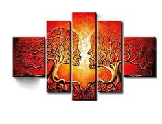 Yellow Human Tree Connection Landscape Canvas Wall Art Oil Painting is hand-painted on canvas by a master artist and gallery-wrapped for museum quality finish. Panel Wall Art, Canvas Wall Art, Wall Art Prints, Canvas Painting Landscape, Oil Painting Abstract, Canvas Paintings, Tree Paintings, Figure Painting, Abstract Landscape
