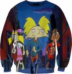 Hey Arnold HD Sweater Crewneck Sweatshirt by YeahWhateverz on Etsy, $59.87