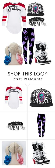 """Harley Quinn and Joker outfit"" by vidanadiri ❤ liked on Polyvore"