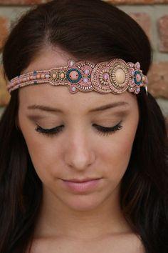 "Luna Boutique - ""Valerie"" Pink Pewter Headband, $38.00 (http://www.shoplunaboutique.com/valerie-pink-pewter-headband/)"