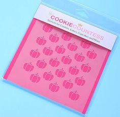 Use the pumpkin cookie stencils for decorating fall and Halloween cookies, chocolate covered Oreos and fondant cupcake toppers!   www.bakerspartyshop.com