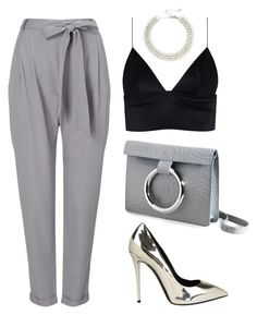 """Grey"" by baludna ❤ liked on Polyvore featuring Phase Eight, Persephoni, Giuseppe Zanotti, Kenneth Jay Lane and T By Alexander Wang"