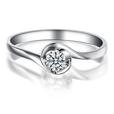 Cheap ring design, Buy Quality ring ring directly from China ring round Suppliers: ANI White Gold Women Engagement Ring CT Certified I/SI Round Cut Natural Diamond Classic Twisted Wedding Rings Ideal Cut Diamond, Best Diamond, Engagement Bands, Diamond Engagement Rings, Promise Rings For Couples, Diamond Solitaire Rings, Diamond Sizes, Diamond Design, Natural Diamonds