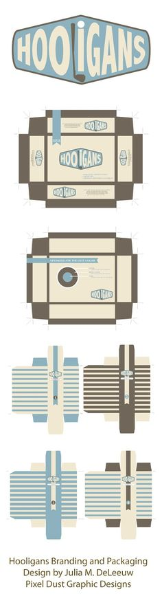 Golfball Logo and packaging designs