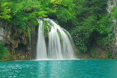It is a beautiful, serene place and because Plitvice Lakes stretches on for miles, a whole day can easily be spent here. Touch the different section of the park as each is unique. Amazing Destinations, Travel Destinations, Travel Europe, Attraction, Plitvice Lakes National Park, Pretty Images, I Want To Travel, Travel Goals, Adventure Awaits