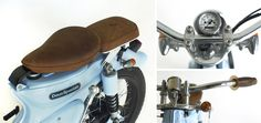 "Honda ""The Little Blue"" by Deus Ex Machina – Lsr Bikes Honda ""The Little Blue"" de Deus Ex Machina – Bicicletas Lsr Honda Cub, C90 Honda, Deus Ex Machina, Custom Cycles, Custom Bikes, Estilo Cafe Racer, Moped Bike, Gs500, Motorcycle Clubs"