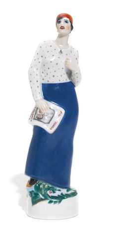 Speech, or Woman Worker Giving a Speech, State Porcelain Manufactory, Petrograd, probably 1923